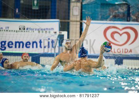 Milan,  January  30:  Carlo Di Fulvio    ( 6, White - Bpm Sport Management  )   In Game Bpm Sport Ma