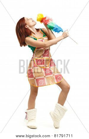 Young Cleaning Woman.