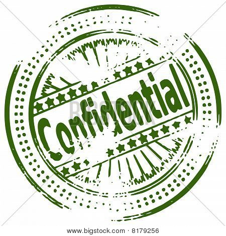 Rubber ink stamp - CONFIDENTIAL
