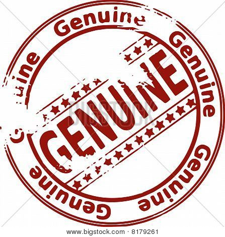 Rubber ink stamp - GENUINE