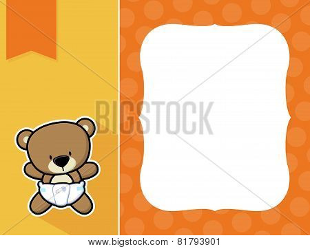 frame baby teddy bear