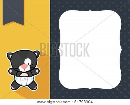 frame baby black cat