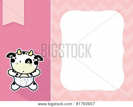 frame baby cow