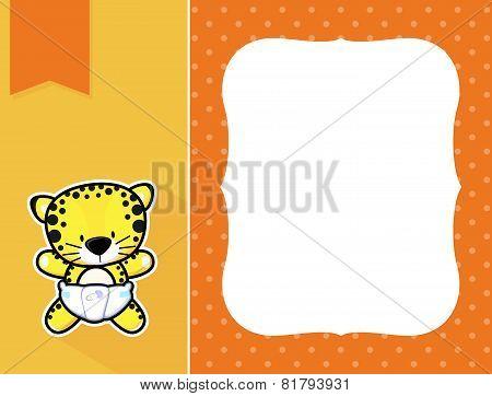 frame baby leopard