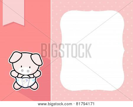 frame baby pig