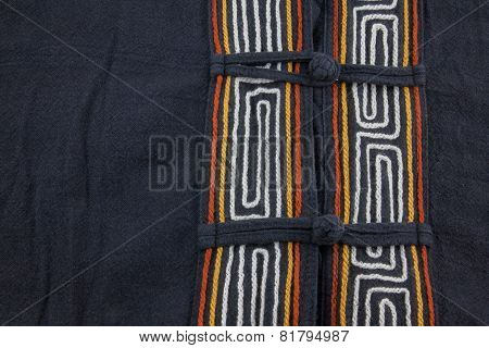 Black Calico Textile Background