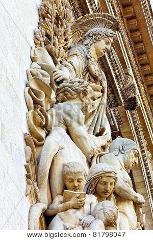 Moldings On The Arc De Triomphe. Paris. France.