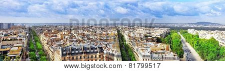 View Of Paris From The Arc De Triomphe.Paris. France.