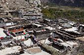 foto of mustang  - Rooftop view over Marpa village Mustang Nepal - JPG