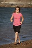 Teenager Running Beach