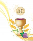 foto of eucharist  - illustration of Symbolic illustration for the first communion - JPG