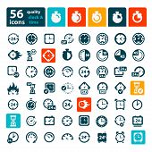 pic of analog clock  - Big Color Clock Icon Set for web and mobile - JPG