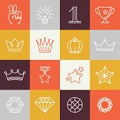 picture of victory  - Vector winner awards and victory signs  - JPG