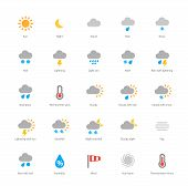 stock photo of moon stars  - Pictogram collection of meteorology and weather - JPG