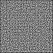 picture of maze  - Black and white abstract artistic background maze - JPG