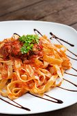 pic of boar  - Tagliatelle with wild boar ragu made in italian style - JPG