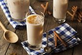 picture of cinnamon  - Homemade Horchata with Cinnamon in a Glass - JPG