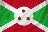 picture of burundi  - Burundi national flag background texture full frame - JPG