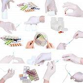 foto of syringe  - Collage of medicine - JPG