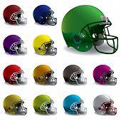 American Football Helmets Illustration poster