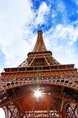 foto of arch foot  - View at foot of Eiffel Tower - JPG