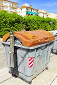 stock photo of dumpster  - Variety dumpsters - JPG