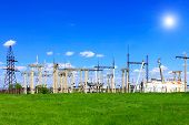 picture of power transmission lines  - The Substation and Power Transmission Lines - JPG