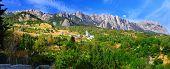stock photo of crimea  - South part of Crimea peninsula mountains Ai-Petri landscape. Ukraine. ** Note: Soft Focus at 100%, best at smaller sizes - JPG