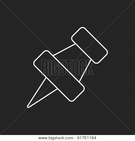 Pushpin Line Icon