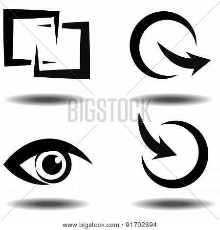 Vector Icon Set For Download And Upload