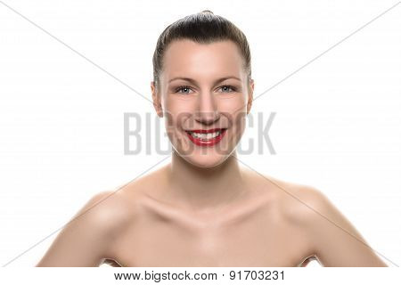 Happy Confident Young Woman With A Lovely Smile