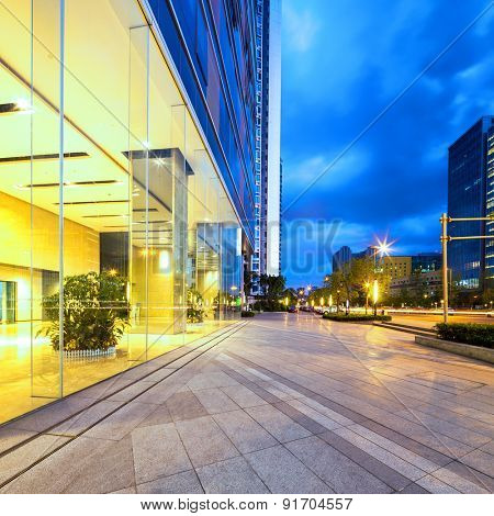 Chengdu,China-July 23,2014:Empty floor near modern building in chengdu.It's the epitome of fast development in southwest china.