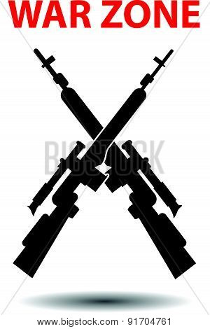Sniper rifles poster background vector illustration