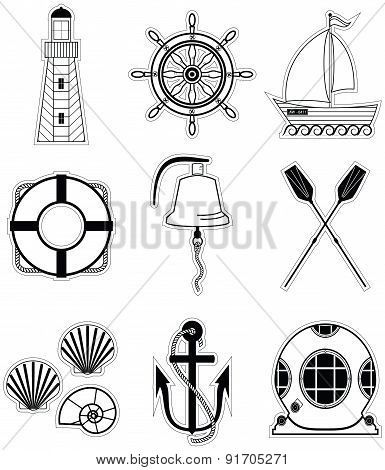 Nautical Elements 1 Sticker Style