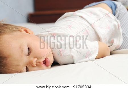 Kid Cute Sleeping Portrait