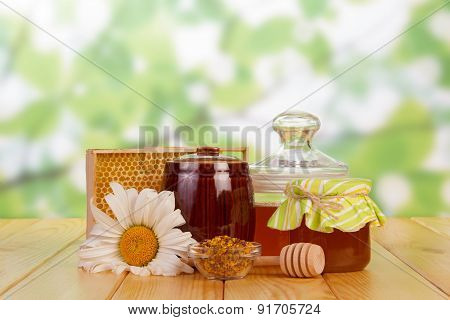 Honey still life