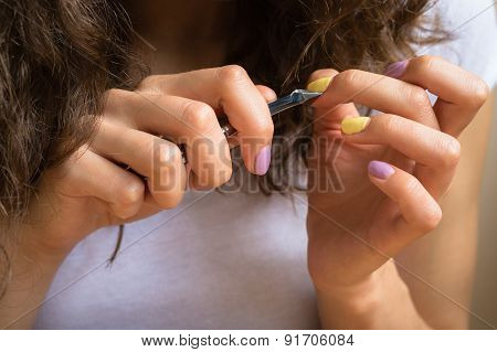 Care For Cuticles With Manicure Scissors