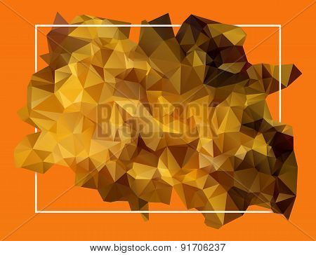 abstract orange lowpoly background