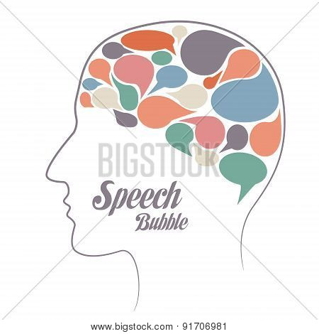 Set Of Speech  Bubble. Thoughts In Head