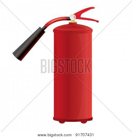Red Fire extinguisher Isolated vector illustration