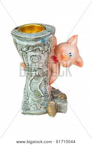 Candlestick In The Form Of Twisted Dollars