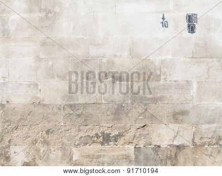 Old Stone Wall And Figures 10