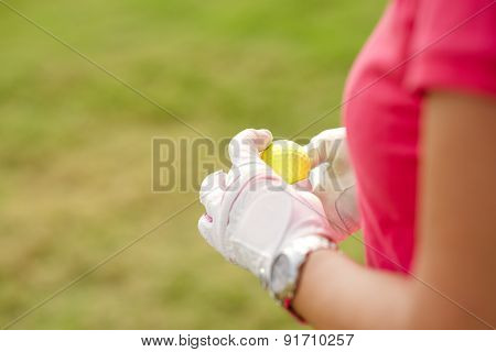 Hands With Golf Ball