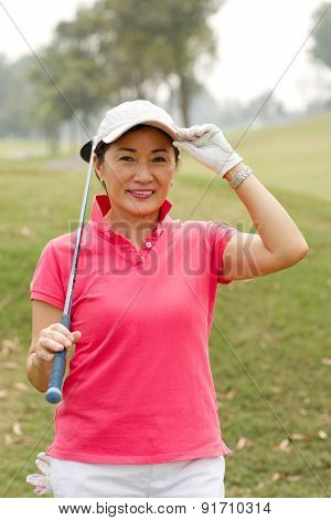 Cheerful Golf Player