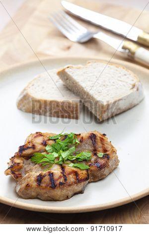 grilled pork neck in beer marinade