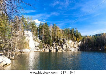 Piskovna lake, Teplice-Adrspach Rocks, Czech Republic