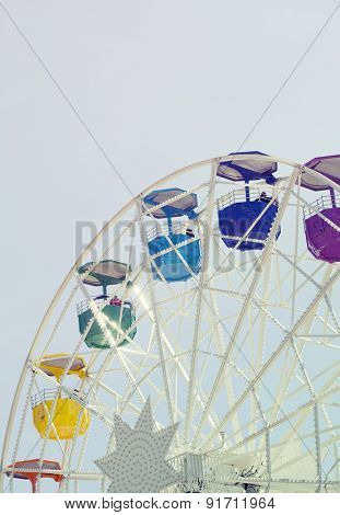 BARCELONA, SPAIN - MAY 2, 2015: Ferrish-wheel in the Amusement Park on Mount Tibidabo in Barcelona, Catalonia, Spain