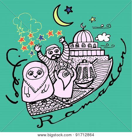 Decorative Background Ramadan Festival