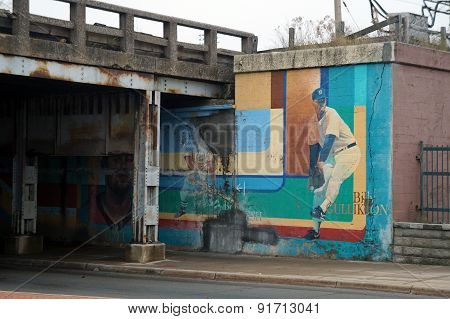 Baseball Mural in an Underpass