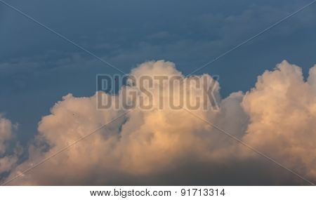 Evening Cloud And Blue Sky